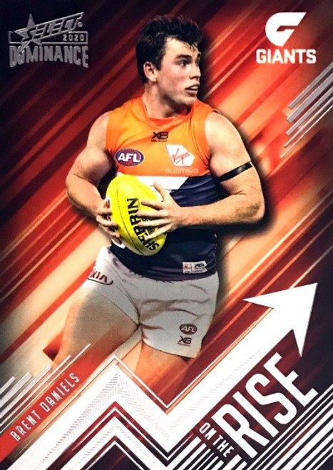 2020 AFL SELECT DOMINANCE BRENT DANIELS GREATER WESTERN SYDNEY GIANTS ON THE RISE CARD