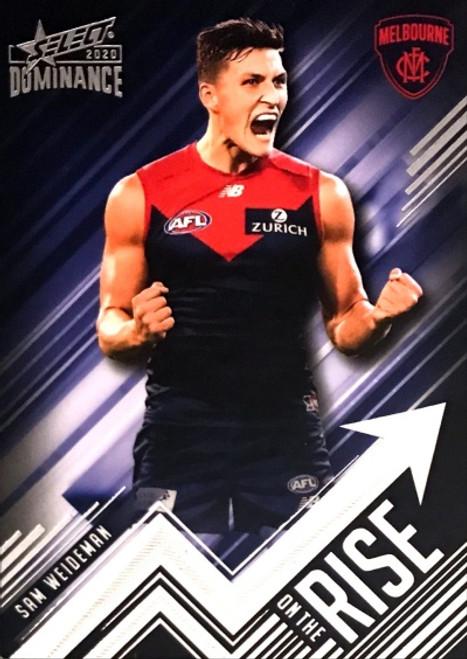 2020 AFL SELECT DOMINANCE SAM WEIDEMAN GOLD COAST SUNS ON THE RISE CARD