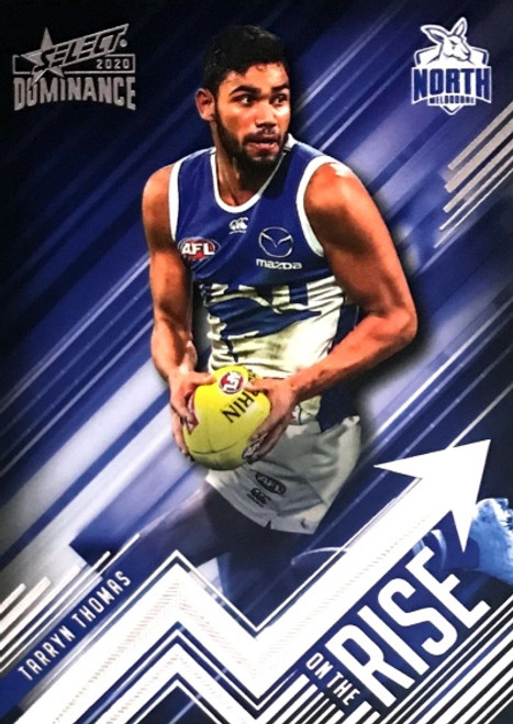 2020 AFL SELECT DOMINANCE TARRYN THOMAS NORTH MELBOURNE KANGAROOS ON THE RISE CARD