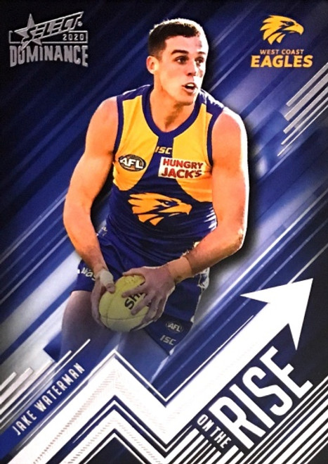 2020 AFL SELECT DOMINANCE JAKE WATERMAN WEST COAST EAGLES ON THE RISE CARD