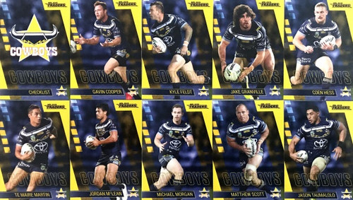 2019 NRL TRADERS NTH QUEENSLAND COWBOYS BASE TEAM SET