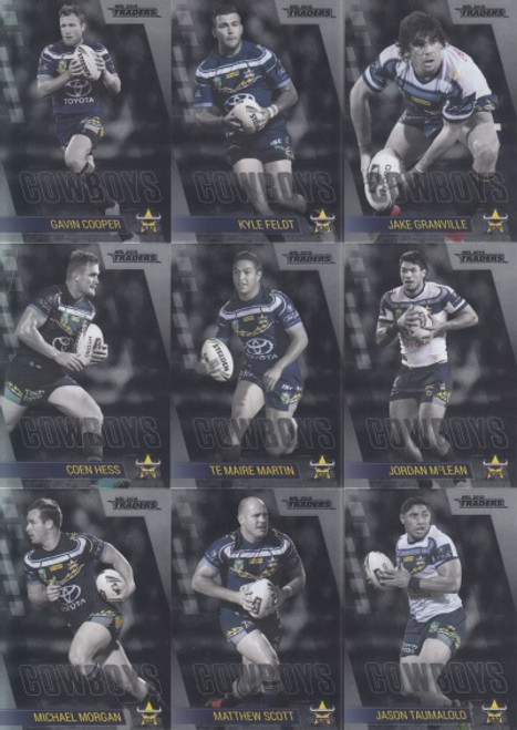 2019 NRL TRADERS NTH QUEENSLAND COWBOYS MINI PARALLELTEAM SET