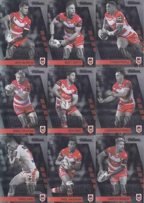2019 NRL TRADERS SAINT GEORGE DRAGONS MINI PARALLELTEAM SET