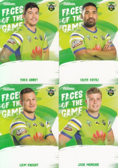 2019 NRL TRADERS CANBERRA RAIDERS FACES OF THE GAMES TEAM SET