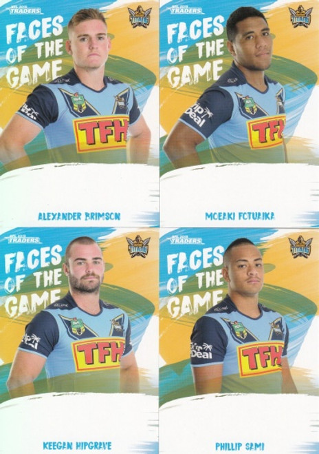 2019 NRL TRADERS GOLD COAST TITANS FACES OF THE GAME TEAM SET