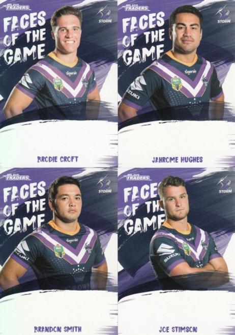 2019 NRL TRADERS MELBOURNE STORM FACES OF THE GAME TEAM SET