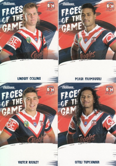 2019 NRL TRADERS SYDNEY ROOSTERS FACES OF THE GAME TEAM SET