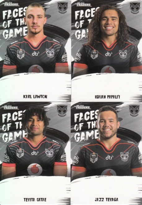 2019 NRL TRADERS NEW ZEALAND WARRIORS FACES OF THE GAME TEAM SET