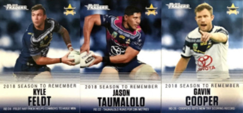 2019 NRL TRADERS NORTH QUEENSLAND COWBOYS SEASON TO REMEMBER CARDS