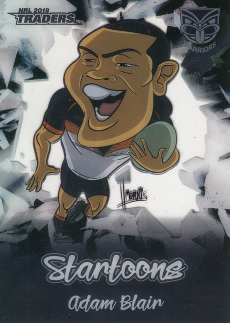 2019 NRL TRADERS ADAM BLAIR NEW ZEALAND WARRIORS STARTOONS CARD