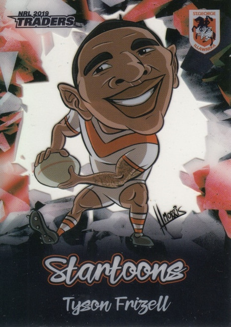 2019 NRL TRADERS TYSON FRIZELL SAINT GEORGE DRAGONS STARTOONS CARD