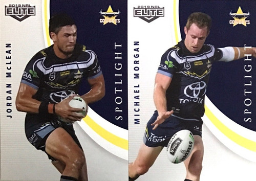 2019 NRL ELITE MORGAN & McLEAN NTH QUEENSLAND COWBOYS SPOTLIGHT CARDS
