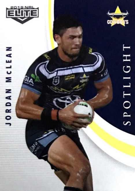 2019 NRL ELITE JORDAN McLEAN NTH QUEENSLAND COWBOYS SPOTLIGHT CARDS