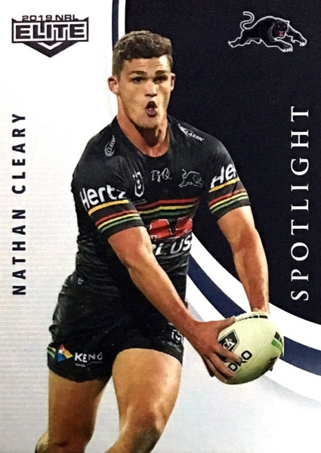 2019 NRL ELITE NATHAN CLEARY  PENRITH PANTHERS SPOTLIGHT CARD
