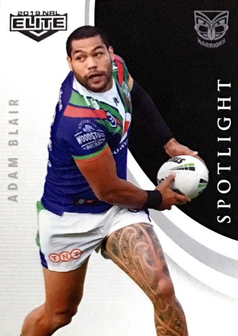 2019 NRL ELITE ADAM BLAIR NEW ZEALAND WARRIORS SPOTLIGHT CARD
