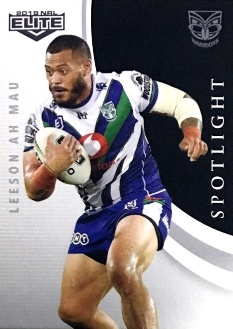2019 NRL ELITE LEESON AH MAU NEW ZEALAND WARRIORS SPOTLIGHT CARD