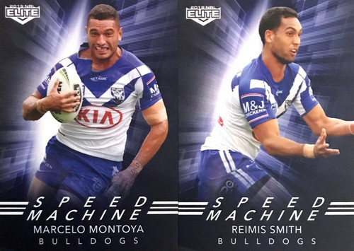 2019 NRL ELITE MONTOYA & SMITH CANTERBURY BULLDOGS SPEED MACHINE CARDS