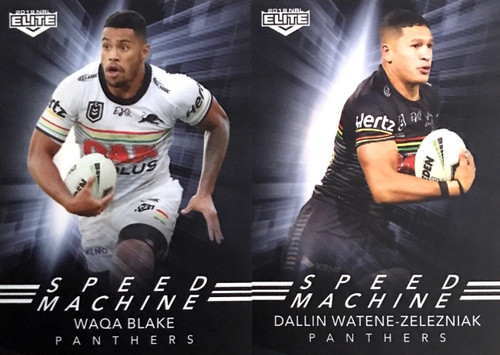 2019 NRL ELITE BLAKE & WATENE-ZELEZNIAK PENRITH PANTHERS SPEED MACHINE CARDS