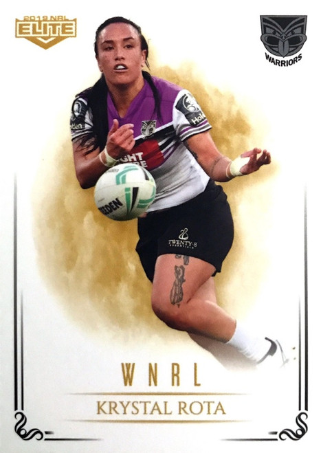 2019 NRL ELITE KRYSTAL ROTA NEW ZEALAND WARRIORS WNRL CARD