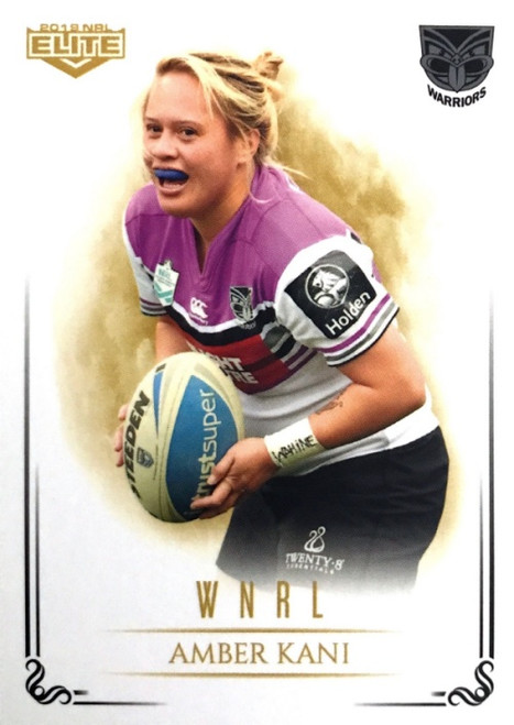 2019 NRL ELITE AMBER KANI NEW ZEALAND WARRIORS WNRL CARD