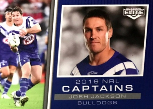 2019 NRL ELITE JOSH JACKSON CANTERBURY BULLDOGS 2018 CAPTAINS CARD
