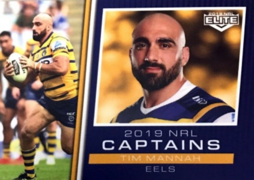 2018 NRL ELITE TIM MANNAH PARRAMATTA EELS CAPTAINS CARD