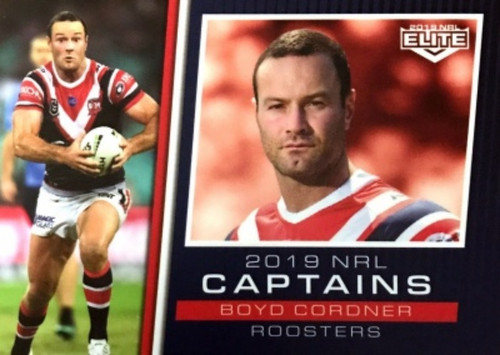 2019 NRL ELITE BOYD CORDNER SYDNEY ROOSTERS CAPTAINS CARD
