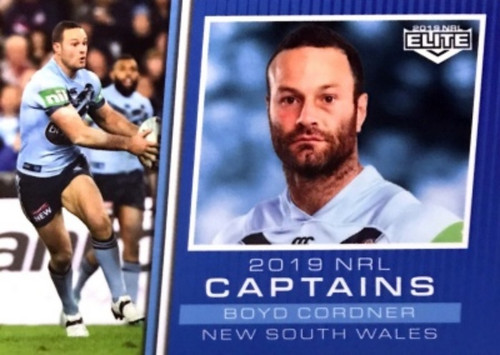 2019 NRL ELITE BOYD CORDNER NEW SOUTH WALES CAPTAINS CARD