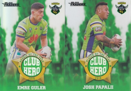 2019 NRL TRADERS CANBERRA RAIDERS CLUB HERO CARDS