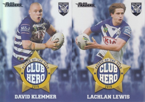 2019 NRL TRADERS CANTERBURY BULLDOGS CLUB HERO'S CARDS