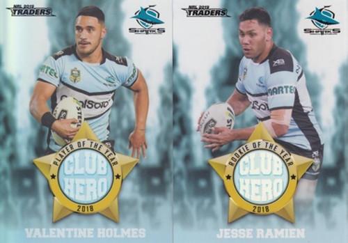 2019 NRL TRADERS CRONULLA SHARKS CLUB HERO'S CARDS