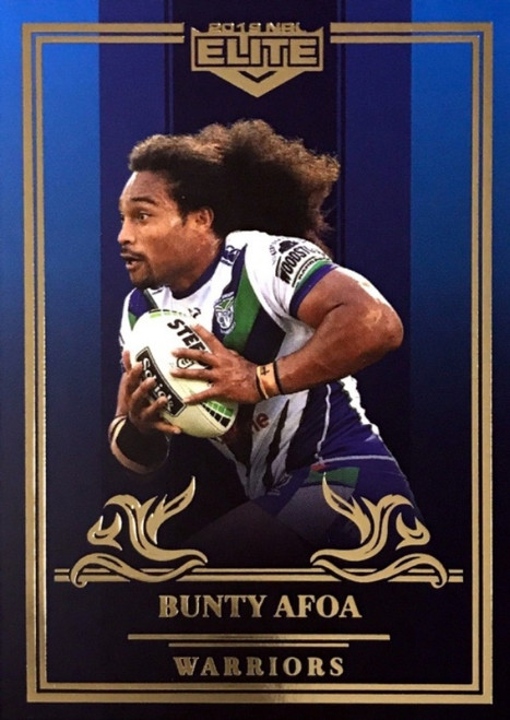 2019 NRL ELITE BUNTY AFOA NEW ZEALAND WARRIORS SAPPHIRE MOJO CARD 15/20
