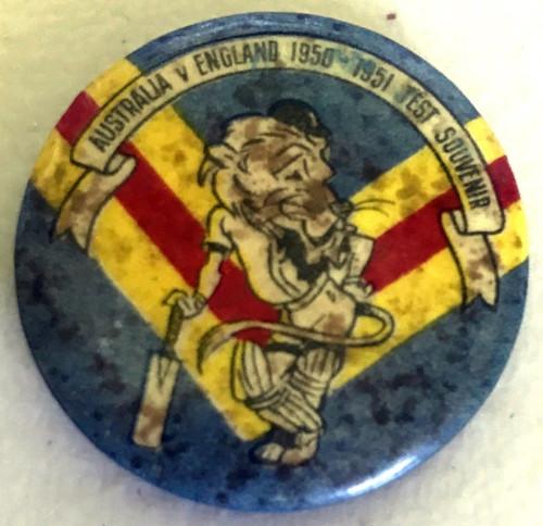 ARGUS Australia V England 1950-1951 Test Series England Logo Tin Badge