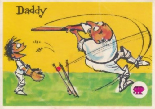 "1967 Scanlens Krazy Kricket Card ""DADDY"""