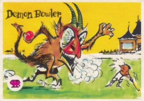 """1967 Scanlens Krazy Kricket Card """"DEMON BOWLER"""""""
