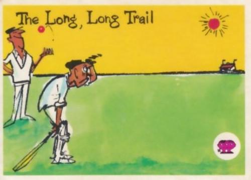 "1967 Scanlens Krazy Kricket Card ""THE LONG LONG TAIL"""