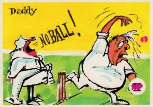 """1967 Scanlens Krazy Kricket card """"Daddy NO BALL"""""""