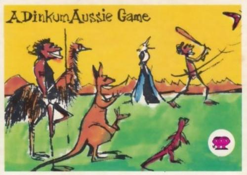 """1967 Scanlens Krazy Kricket Card """"A DINKUM AUSSIE GAME"""""""