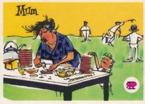 "1967 Scanlens Krazy Kricket Card ""MUM"""