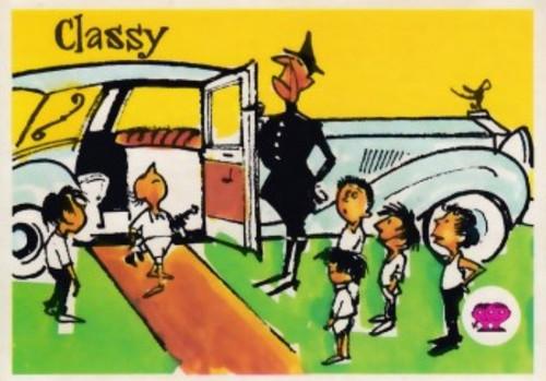 """1967 Scalens Krazy Kricket Card """"CLASSY"""""""