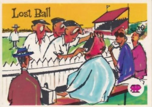 "1967 Scanlens Krazy Kricket Card ""LOST BALL"""