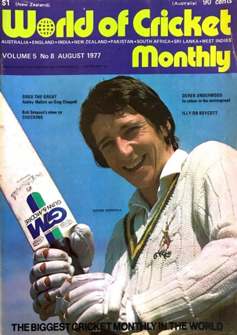 World of Cricket Monthly Vol.5 No 8 AUGUST 1977
