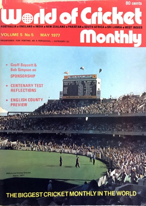 World of Cricket Monthly Vol.5 No 5 MAY 1977