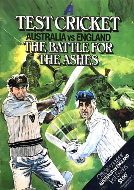 Test Cricket-AUSTRALIA V ENGLAND The Battle for the Ashes Souvenir Magazne
