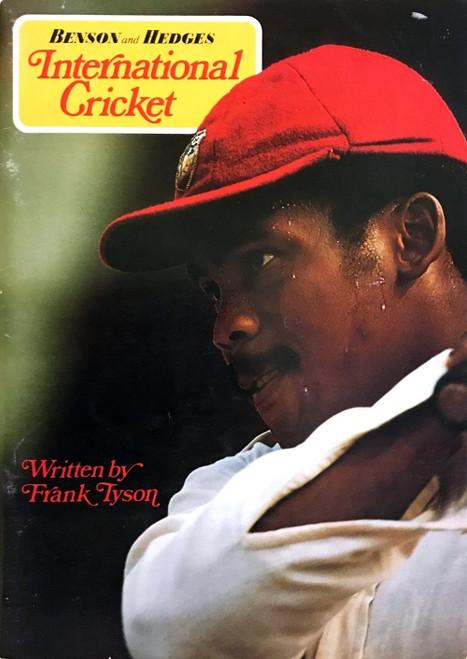 1976 Benson & Hedges International Cricket written by Frank Tyson