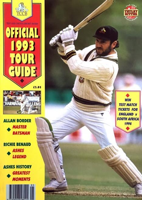 TCCB Official 1993 TOUR GUIDE Cricket Magazine