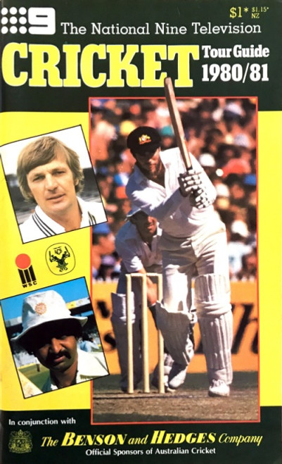 The National Nine Television Cricket 1980/81 Tour Guide Booklet
