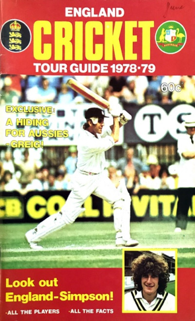 ENGLAND Cricket Tour Guide 1978-79 Booklet