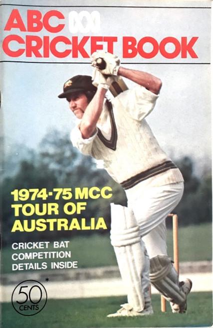 ABC Cricket Book 1974-75 MCC Tour of Australia Booklet