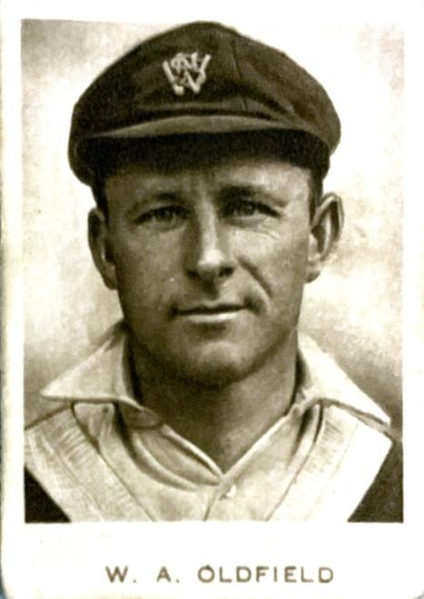 1934 Dudgeon & Arnell (Patrol Tobacco) #04 W A OLDFIELD Australian Test Team Card
